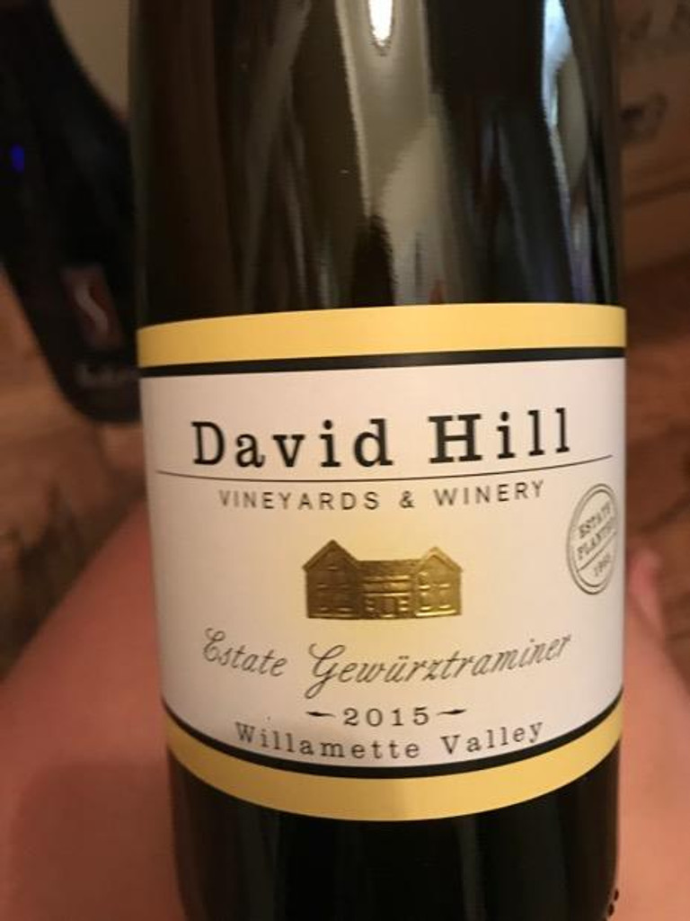 David Hill Winery Estate Riesling 2015