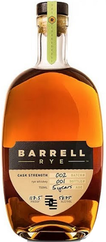 Barrell Craft Spirits, 5 Year Old Batch 002 Cask strength Rye Whiskey