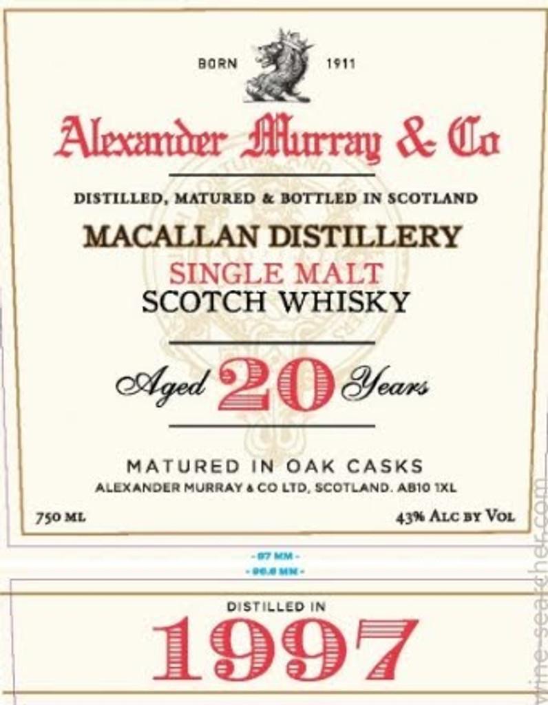 Alexander Murray & Co. 20 Years Old Single Malt Scotch Whisky (1997)