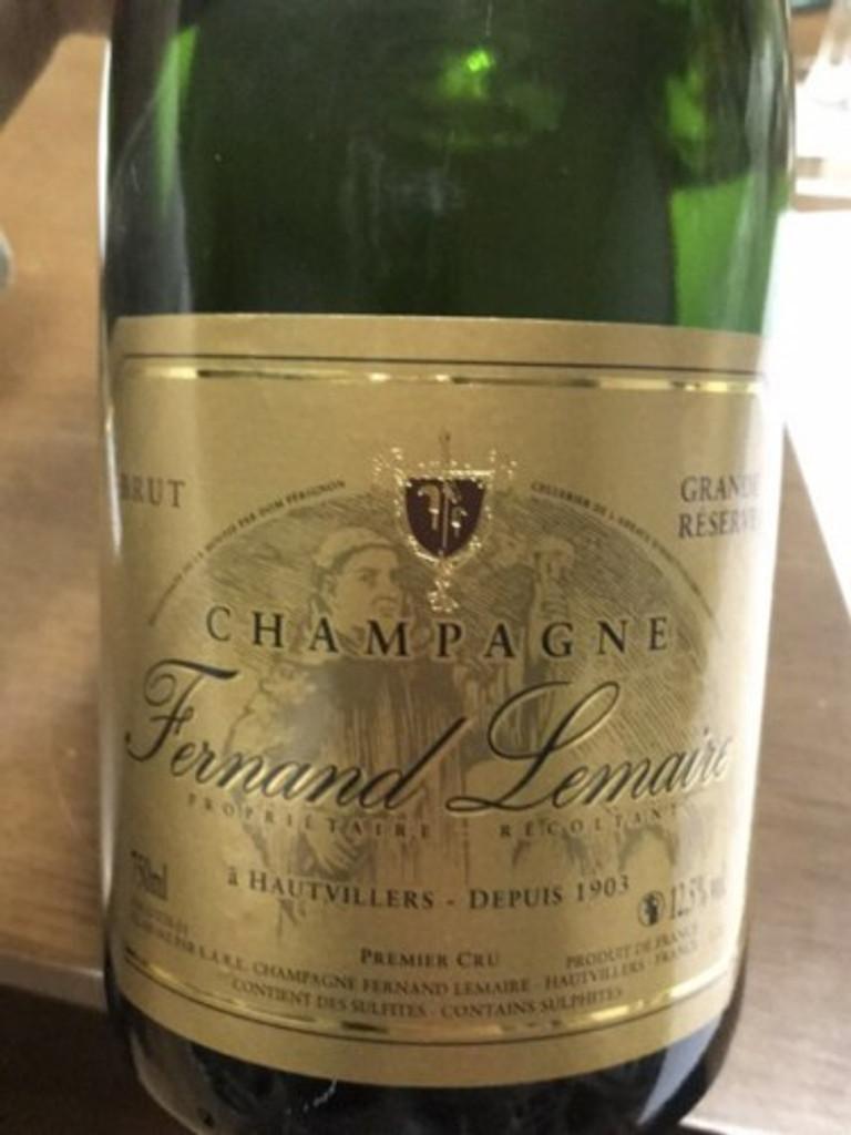 Champagne Fernand Lemaire Premier Cru Brut NV