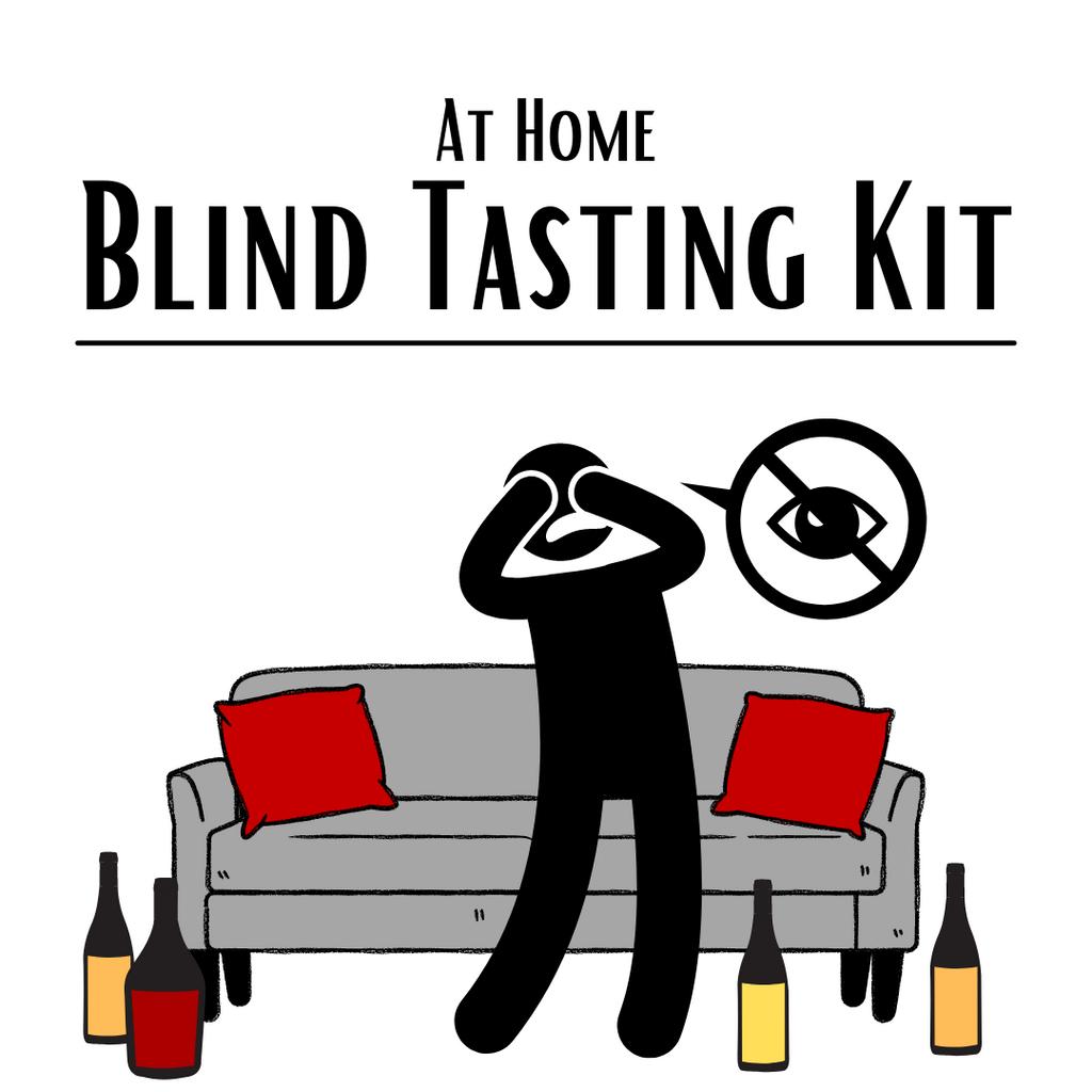Home Blind Tasting Kit (6 PACK): Reds & Whites - Premium Level