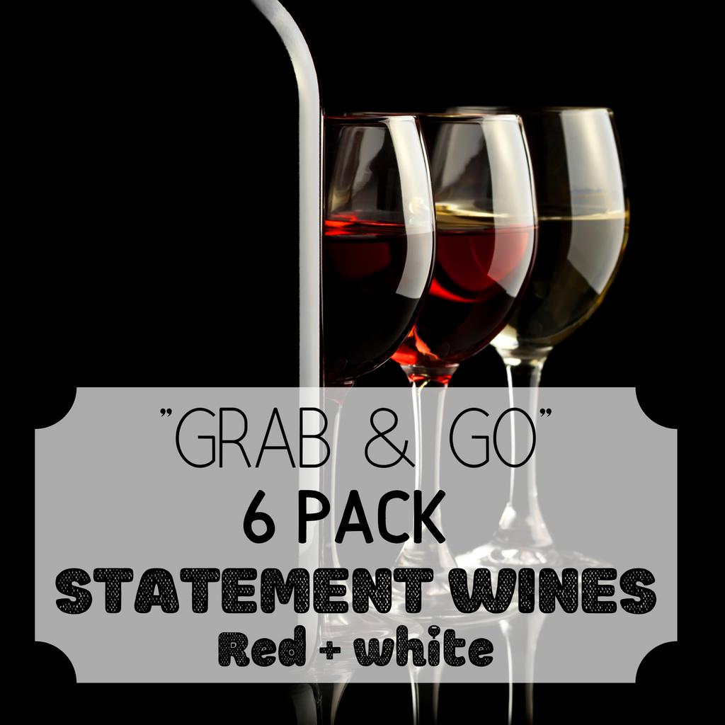 """Grab & Go"" 6 Pack: Statement Whites & Reds"