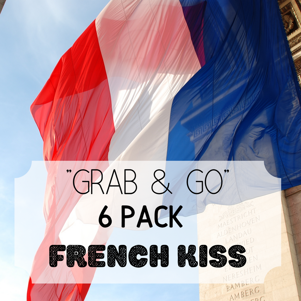 """Grab & Go"" 6 Pack: French Kiss"