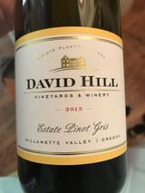David Hill Winery Estate Pinot Gris 2015