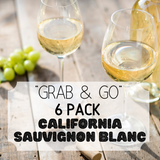"""Grab & Go"" 6 Pack: California Sauvignon Blanc"
