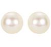 14K White Gold 8mm Akoya White Cultured AA Pearl Stud Earrings