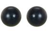 14K White Gold 8mm Black Akoya Cultured Pearl Stud Earrings