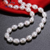 """DAIMI 18"""" Freshwater Cultured Pearl Necklace w/ Sterling Siver Clasp 7mm-8mm Pearls"""
