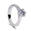 The Brooklyn Ring Series - 14K White Gold Eternal Moissanite Round Brilliant Cut 1CT Solitaire Engagement Ring - VIDEO BELOW