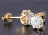 Eternal Moissanite 1.75CTW Flower Style Stud Earrings in 14K - DEAL!!