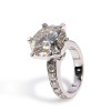 The Bradley Series Ring - Eternal Moissanite 4CT Round Brilliant Cut Engagement Ring - VIDEO BELOW