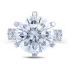 The Bradley Series Ring - Eternal Moissanite 10CT = 14mm Round Brilliant Cut Engagement Ring - VIDEO BELOW