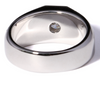 The Bryce Ring Series  -  Mens Eternal Moissanite Round Cut 1CT Center Wedding Band
