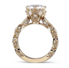 The Renee Ring Series - Eternal Moissanite 3CT Round Brilliant Cut Center Vintage Styled Engagement Ring SET!  VIDEO BELOW!