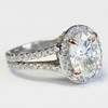 The Joan Forever One 1.52CT Oval Cut Moissanite Halo Engagement Ring!