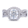 The Paisley Ring Series - Eternal Moissanite 2.10CT Cushion Cut Center Engagement Ring Set!  VIDEO BELOW!