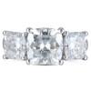 The Mindy Ring Series - Eternal Moissanite 5.20CTW Cushion Cut Three Stone Engagement Anniversary Ring