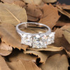 The Mindy Ring Series - Eternal Moissanite 5.20CTW Cushion Cut Three Stone Engagement Anniversary Ring