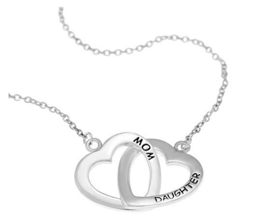 .925 Sterling Silver Mother Daughter Link Chain Bracelet