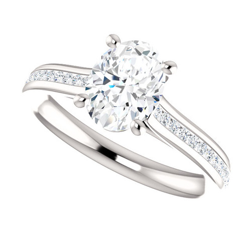 The Bliss Ring Series -  8mm X 6mm 1.50CT NEO Moissanite Oval Cut & Diamond Engagement Ring