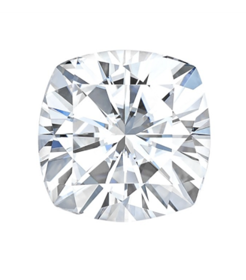 Forever One Cushion Cut Colorless Loose Moissanite