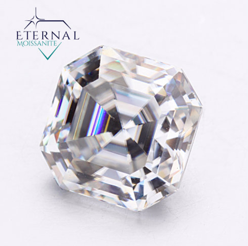 ASSCHER CUT - Eternal® Moissanite Loose Gem  - VIDEO BELOW