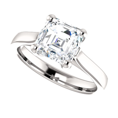 The Julia Ring Series - Eternal Moissanite 1.80CT Asscher Cut Engagement Cathedral Style Solitaire Ring - VIDEO BELOW