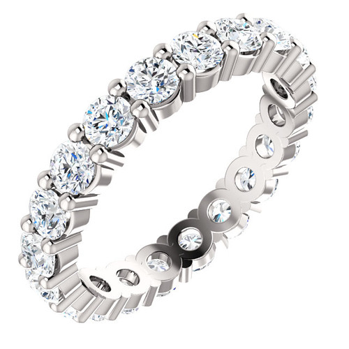 Eternal Moissanite 2CTW Round Brilliant Cut Full Eternity Ring - VIDEO BELOW