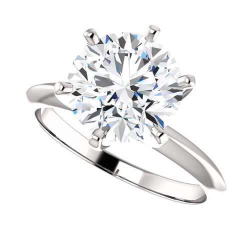 Eternal Moissanite 3CT Round Brilliant Cut GH Color Engagement Tiffany Style Solitaire Ring - VIDEO BELOW