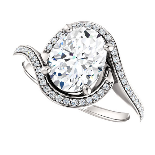 The Saige Ring Series - Eternal Moissanite 2.10CT Oval Cut Engagement Ring