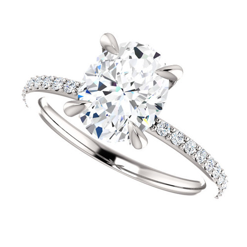 The Charlene Ring Series - Eternal Moissanite 2CT Oval Cut Engagement Ring