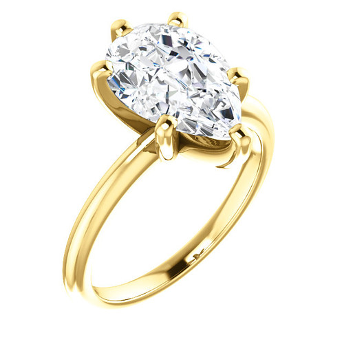 Custom Listing For Madison - Eternal Moissanite GH Color Pear 11.5mm X 8mm  5 Prong Solitiare