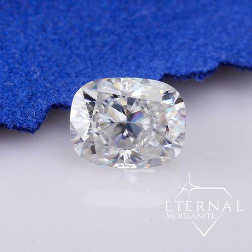 ELONGATED CUSHION CUT -Crushed Ice or Traditional Faceted -  Eternal® Moissanite Loose GEM - VIDEO BELOW