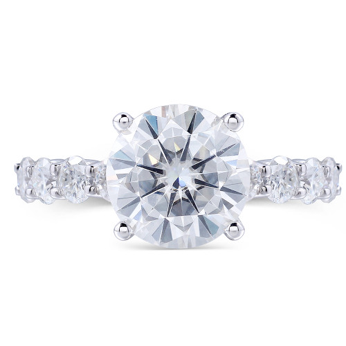 The Alexa Series Ring - Eternal Moissanite 1.25CT Round Brilliant Cut Eternity Style Engagement Ring - VIDEO BELOW