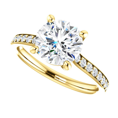 The Riley Series Ring - Eternal Moissanite 2CT Round Brilliant Cut Engagement Ring