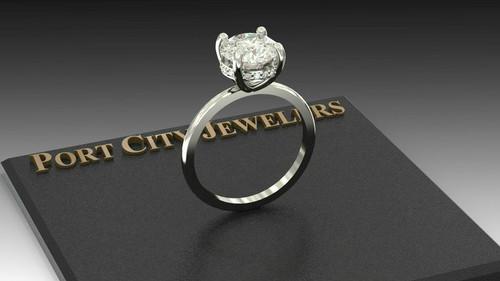 The Vanessa Ring Series - Eternal Moissanite 2CT Center Round Diamond Cut & Diamond Collar