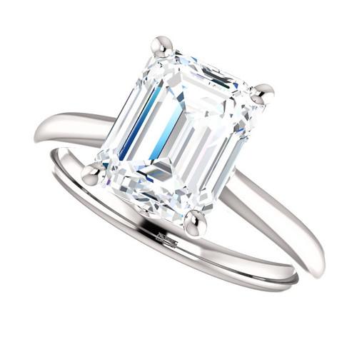 The Jasper Ring Series - Eternal Moissanite 2.45CT Emerald Cut Engagement Ring