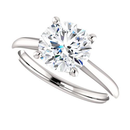 The Jasper Ring Series - Eternal Moissanite 2CT Round Cut Engagement Ring