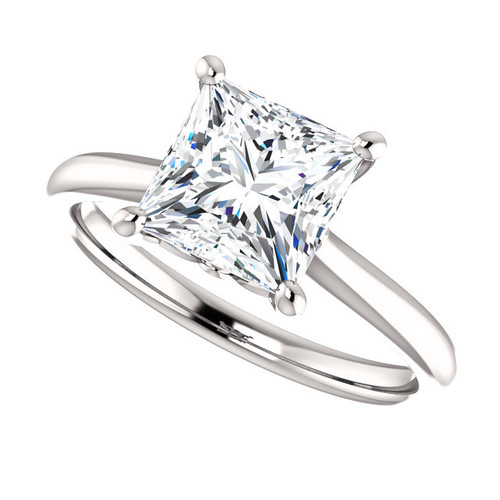 The Jasper Ring Series - Eternal Moissanite 2.10CT Princess Cut Engagement Ring
