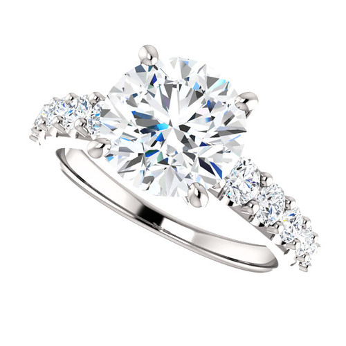 """The Taylor Ring Series - Eternal Moissanite 3CT """"DIAMOND CUT"""" Round Engagement Ring"""