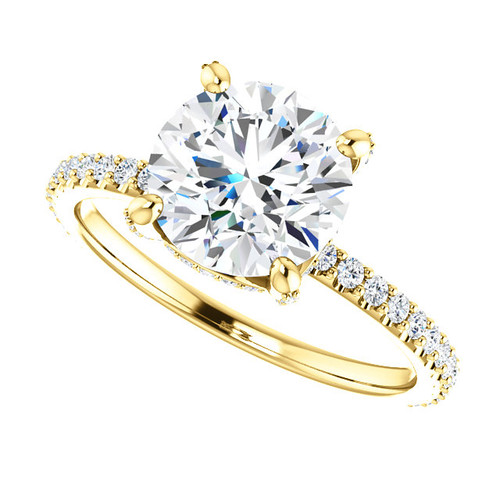"The Tempest Ring Series - Eternal Moissanite 2CT Center Round ""Diamond Cut"" Engagement Ring"