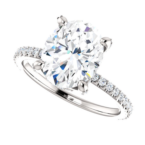 The Tempest Ring Series - Eternal Moissanite 3CT Center Oval Cut Engagement Ring