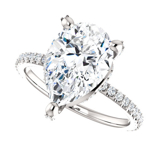 The Tempest Ring Series - Eternal Moissanite 3.57CT Center Pear Cut Engagement Ring