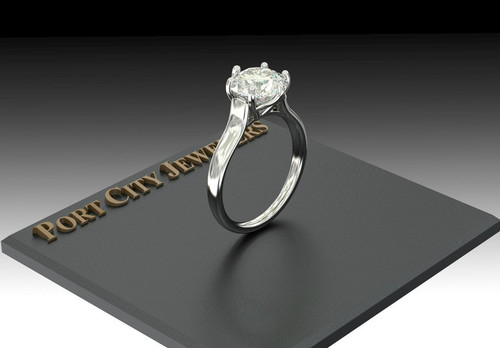 The Adele Ring Series - Eternal  Moissanite 3CT Center Round Brilliant Cut Solitaire Engagement Ring