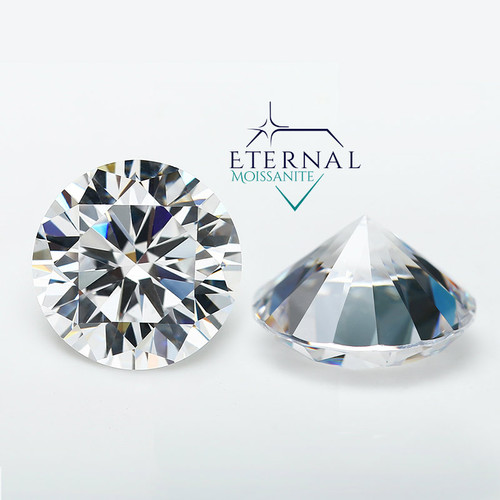 "Eternal® Moissanite Round ""DIAMOND CUT"" Loose Gem - VVS1 Clarity - VIDEO BELOW"