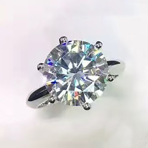 The CIARA Ring Series - Eternal Moissanite 10CT Round Brilliant Cut Prong Set  Engagement Ring