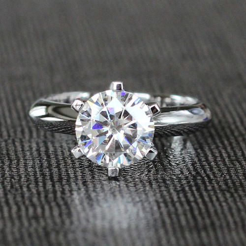 Image Shown Is Set With A 1.5CT Round