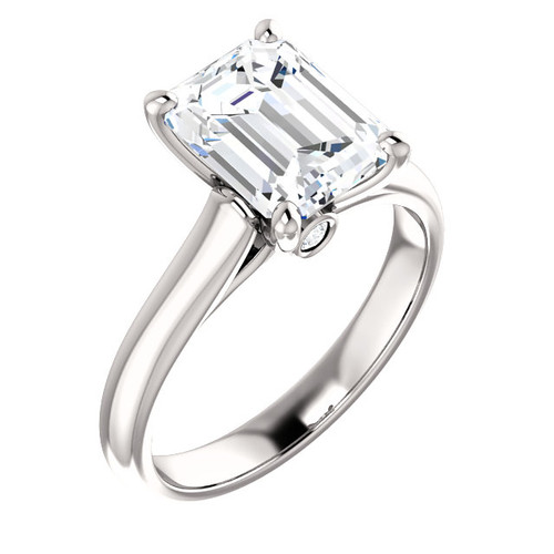 The Hannah Ring Series - Eternal Moissanite 2.45CT Emerald Cut Solitaire Engagement Ring!