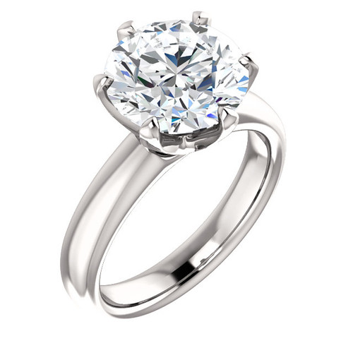 "The Colleen Ring Series - Eternal Moissanite 4CT Round ""DIAMOND CUT""  Engagement Ring"