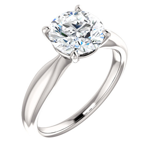 The Iris Ring Series - Eternal Moissanite 3CT Round Brilliant Cut Engagement Ring